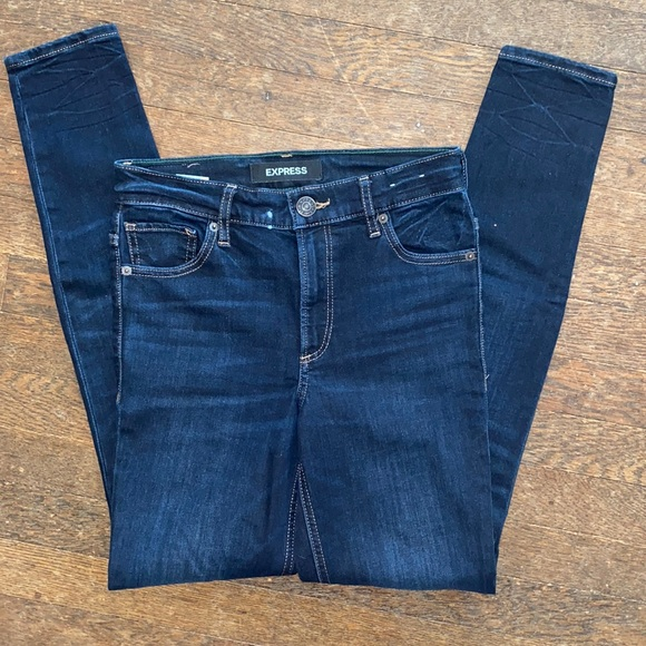 Express high- waisted dark wash jeans- women's 00R